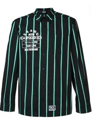 Ktz Striped Button Down Shirt Green
