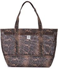 Opening Ceremony Logo Snakeskin Effect Tote 60