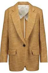 Etoile Isabel Marant Ivor Marled Wool And Cotton Blend Blazer Tan