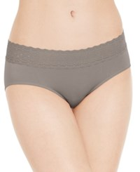 Jockey Seamless Lace Waist Hipster 2123 Sueded Taupe