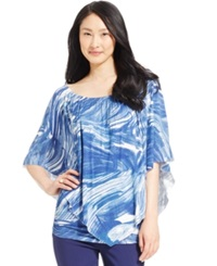 Miraclesuit Shaping Marble Print Poncho Top