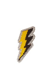 Shourouk Emojibling Lightning Brooch Multi