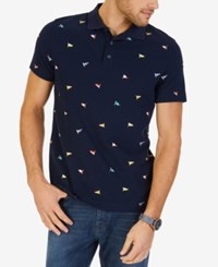 Nautica Big And Tall Embroidered Pique Polo Navy