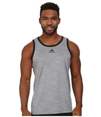 Adidas Heathered Tank Grey Black Men's Sleeveless Gray