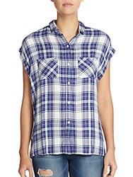 Rails Britt Plaid Shirt Lavender Plaid