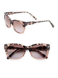 Jason Wu Alex 54Mm Square Sunglasses Pink Tortoise