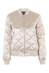 Topshop Petite Quilted Ma1 Bomber Pale Pink
