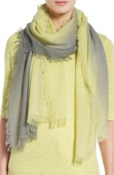 Eileen Fisher Women's Ombre Wool Blend Scarf Lemon Ice