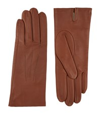Harrods Of London Silk Lined Leather Gloves Female
