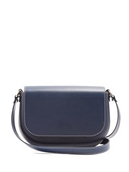 A.P.C. James Leather Cross Body Bag Navy