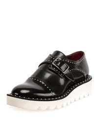 Stella Mccartney Odette Studded Faux Leather Oxford Black