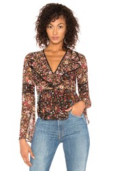Bcbgeneration Bell Sleeve Top Brown