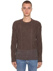 Dsquared Wool Knit Sweater Brown