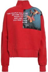 Each X Other Embroidered Printed French Cotton Terry Sweatshirt Red