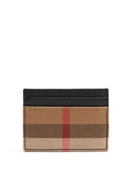 Burberry Sandon Grained Leather Cardholder Black Multi