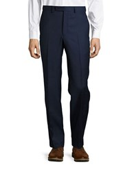Lauren Ralph Lauren Check Print Wool Dress Pants Blue