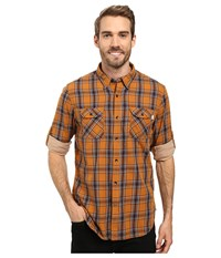 Timberland Double Layer Plaid Shirt Wheat Men's Clothing Brown