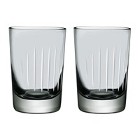 Nude Parrot Water Glasses Set Of 2 Grey White