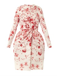 Giambattista Valli Couture Wedgewood Print Silk Faille Evening Coat