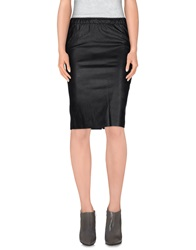 Soallure Knee Length Skirts Black