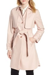 Ted Baker London Scallop Detail Trench Coat Nude Pink