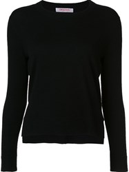 Organic By John Patrick Lateral Slit Pullover Black