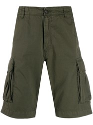 Perfection Side Pocket Cargo Shorts Green
