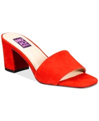 Mojo Moxy Ceci Block Heel Mules Women's Shoes Red