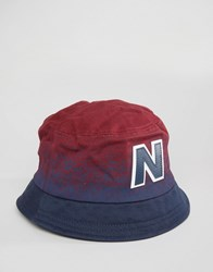 New Balance Graduated Bucket Hat In Red Red