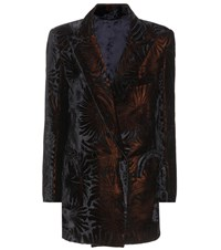 Blaze Milano Everyday Flocked Velvet Blazer Black