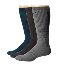 Nike Dri Fit Fly V4 Crew 3 Pack Multicolor 7 Crew Cut Socks Shoes