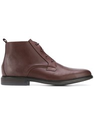 Tommy Hilfiger Almond Toe Boots Brown