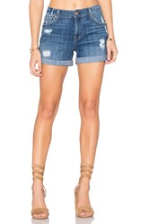 7 For All Mankind Relax Mid Roll Short Blue