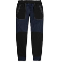 Under Armour Sportswear Pivot Slim Fit Tapered Shell Panelled Stretch Cotton Sweatpants Navy