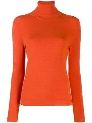 Luisa Cerano Turtleneck Sweater Orange