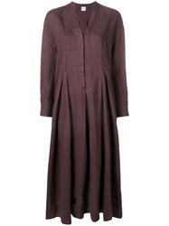 Aspesi Loose Fit Dress Purple