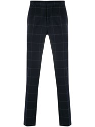 Daniele Alessandrini Plaid Print Trousers Blue