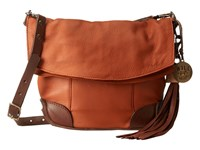 Will Leather Goods Hazel Crossbody Rust Brown Cross Body Handbags Tan