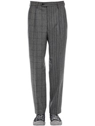 Lc23 Gessato Quadro Wool Pants Grey