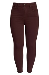 Good American Plus Size Legs High Waist Ankle Skinny Jeans Burgundy 001