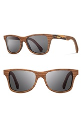 Shwood 'Canby' 55Mm Wood Sunglasses Walnut Tortoise Inlay Grey