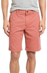Bonobos Men's Stretch Washed Chino 9 Inch Shorts Rich Coral