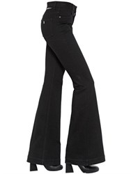 Stella Mccartney Flared Stretch Cotton Denim Jeans