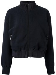 Each X Other Cropped Zip Up Cardigan Black
