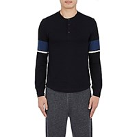 Solid And Striped Men's Sleeve Henley Black