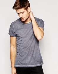 Esprit T Shirt With Oil Wash Washedblack