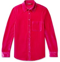 Sies Marjan Sander Silk And Cotton Blend Corduroy Shirt Pink
