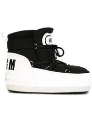 Msgm Lace Up Snow Boots Black