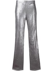 Misbhv Sequined Flared Trousers Metallic