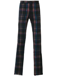 Etro Checked Pants Men Acetate Viscose Wool 46